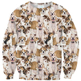 Doggy Invasion Sweater-Shelfies-| All-Over-Print Everywhere - Designed to Make You Smile