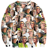 Elizabeth May Face Sweater-Shelfies-| All-Over-Print Everywhere - Designed to Make You Smile
