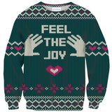Feel The Joy Sweater-Shelfies-| All-Over-Print Everywhere - Designed to Make You Smile
