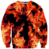 Fire Sweater-Shelfies-| All-Over-Print Everywhere - Designed to Make You Smile