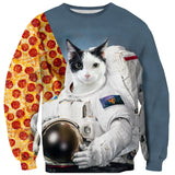 Sweaters - First Cat On The Moon Sweater