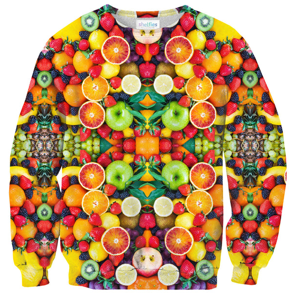Fruit Explosion Sweater-Shelfies-| All-Over-Print Everywhere - Designed to Make You Smile