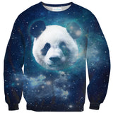 Galaxy Panda Sweater-Shelfies-| All-Over-Print Everywhere - Designed to Make You Smile
