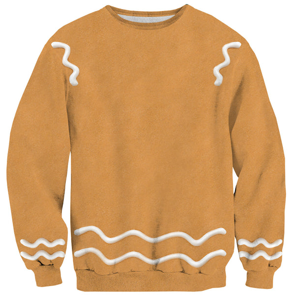 Gingerbread Man Sweater-Shelfies-| All-Over-Print Everywhere - Designed to Make You Smile