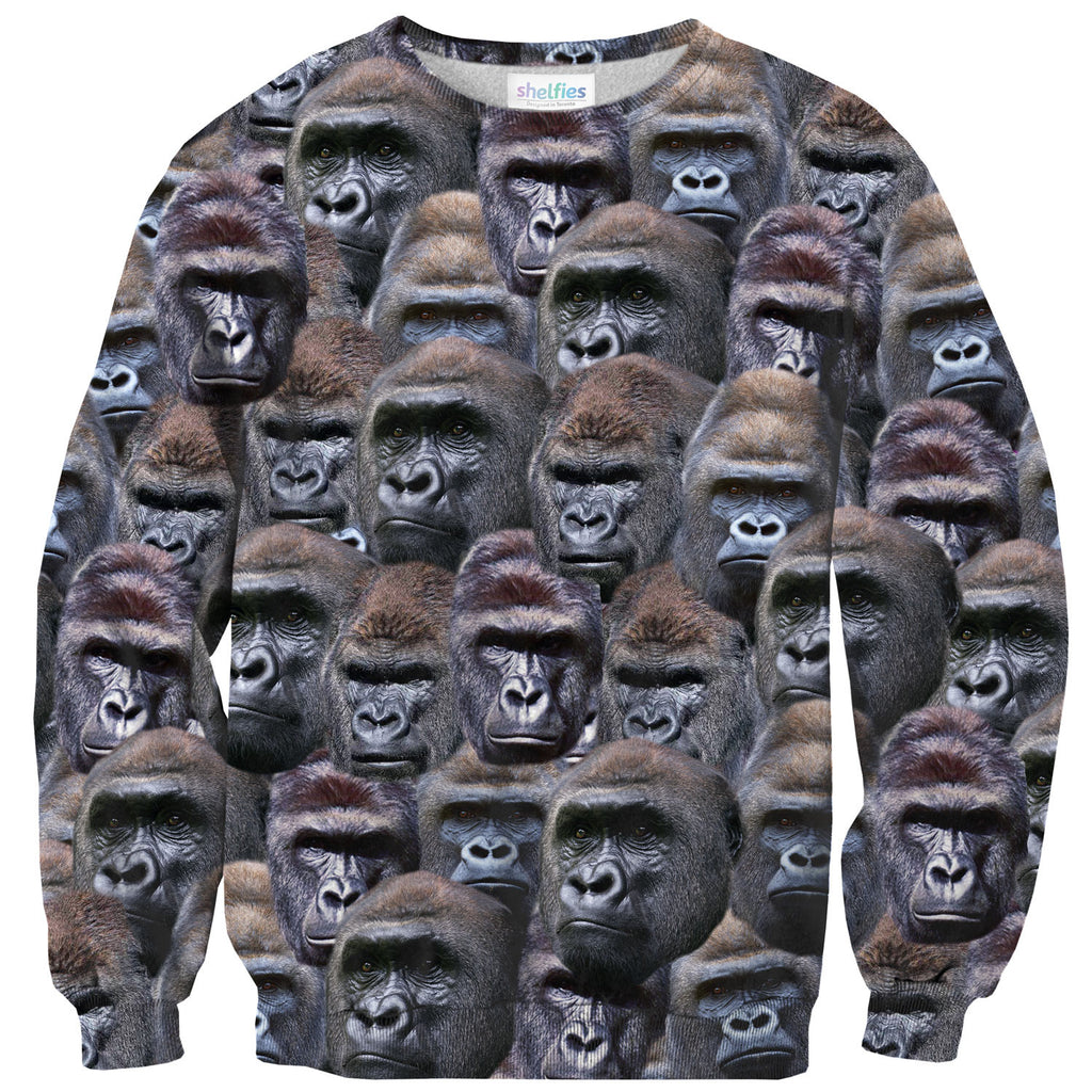 Gorilla Invasion Sweater-Shelfies-| All-Over-Print Everywhere - Designed to Make You Smile