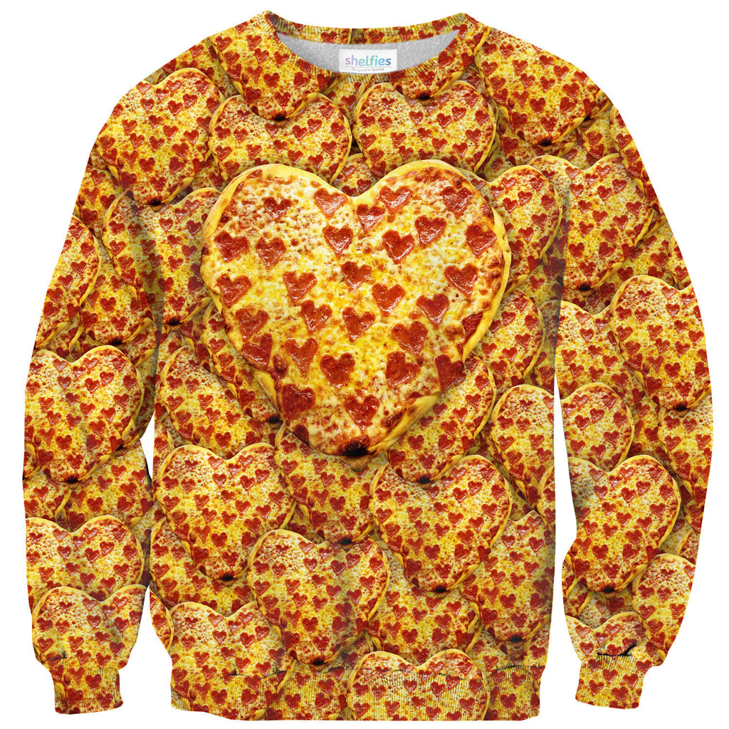 Sweaters - Heart Pizza Sweater
