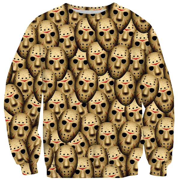 Horror Mask Sweater-Shelfies-| All-Over-Print Everywhere - Designed to Make You Smile