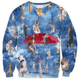 It's Raining Cats And Dogs Sweater-Shelfies-| All-Over-Print Everywhere - Designed to Make You Smile