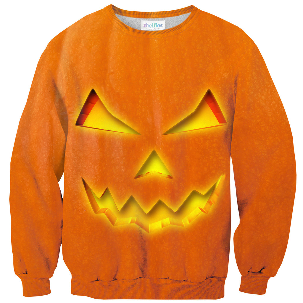 Jack-O-Lantern Sweater-Shelfies-| All-Over-Print Everywhere - Designed to Make You Smile