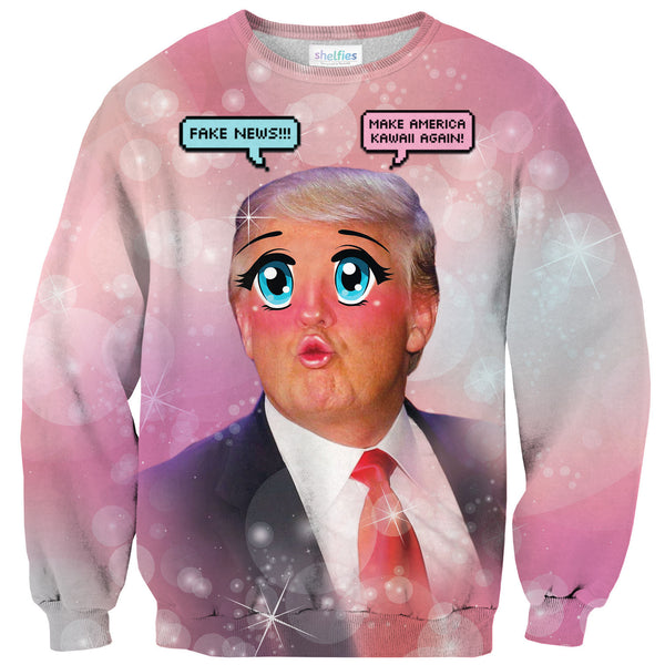 Kawaii Trump Sweater-Shelfies-| All-Over-Print Everywhere - Designed to Make You Smile