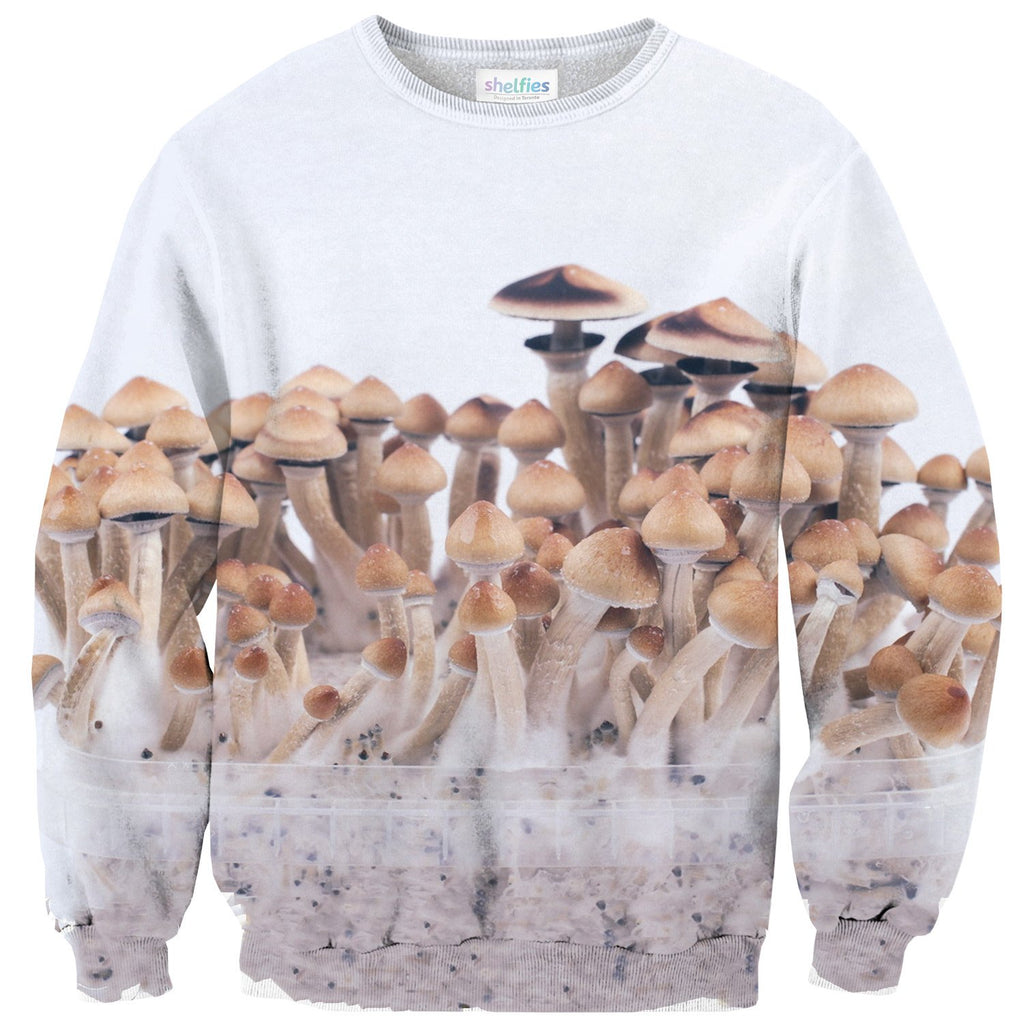 Magic Mushrooms Sweater-Subliminator-| All-Over-Print Everywhere - Designed to Make You Smile