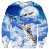 Meowy Christmas Sweater-Shelfies-| All-Over-Print Everywhere - Designed to Make You Smile