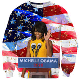 Michelle Obama 2020 Sweater-Shelfies-XS-| All-Over-Print Everywhere - Designed to Make You Smile