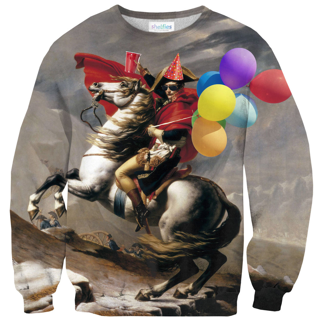 Napoleon Born2Party Sweater-Shelfies-XS-| All-Over-Print Everywhere - Designed to Make You Smile