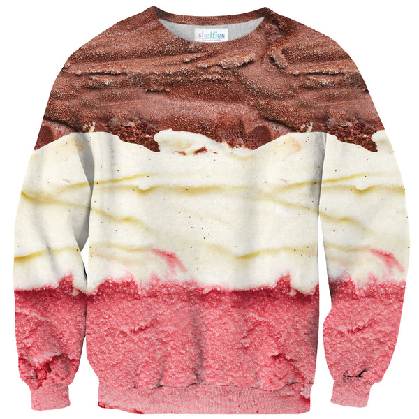 Neapolitan Sweater-Shelfies-| All-Over-Print Everywhere - Designed to Make You Smile