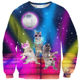 Party Cats Sweater-Shelfies-| All-Over-Print Everywhere - Designed to Make You Smile