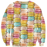 Pastel Macaroons Invasion Sweater-Shelfies-| All-Over-Print Everywhere - Designed to Make You Smile
