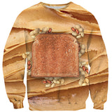Peanut Butter Sweater-Shelfies-| All-Over-Print Everywhere - Designed to Make You Smile
