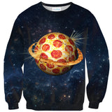 Planet Pizza Sweater-Shelfies-| All-Over-Print Everywhere - Designed to Make You Smile