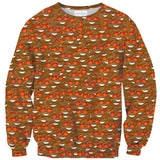 Poop Hearts Emoji Invasion Sweater-Shelfies-| All-Over-Print Everywhere - Designed to Make You Smile