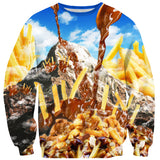 Poutine Mountain Sweater-Shelfies-| All-Over-Print Everywhere - Designed to Make You Smile