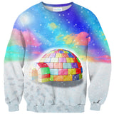 Rainbow Igloo Sweater-Shelfies-| All-Over-Print Everywhere - Designed to Make You Smile