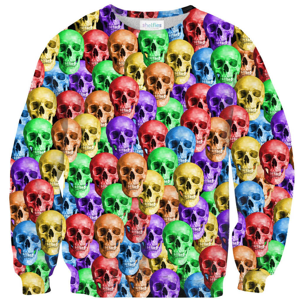 Sweaters - Rainbow Skulls Sweater