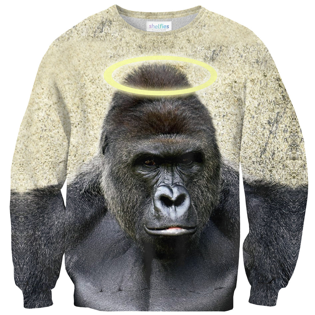 RIP Harambe Sweater-Shelfies-| All-Over-Print Everywhere - Designed to Make You Smile