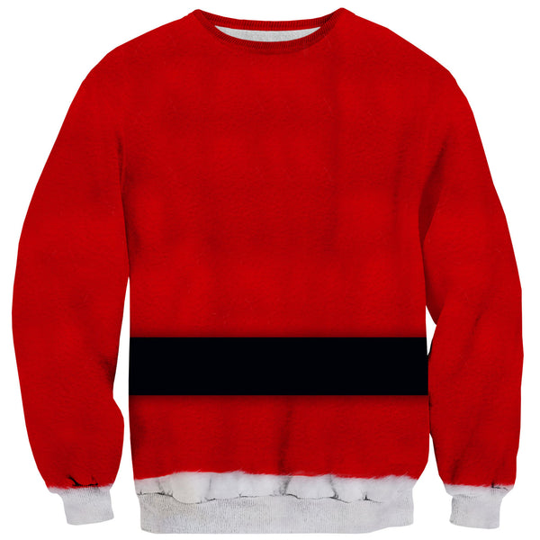 Santa Belly Sweater-Shelfies-| All-Over-Print Everywhere - Designed to Make You Smile