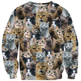 Scaredy Cat Invasion Sweater-Shelfies-| All-Over-Print Everywhere - Designed to Make You Smile