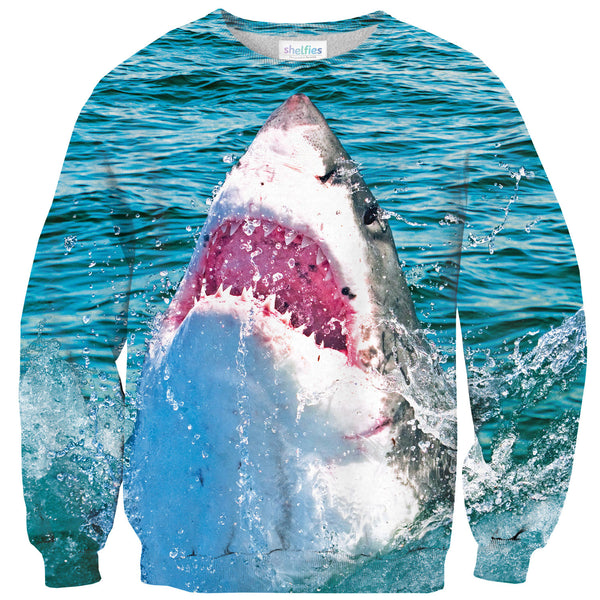 Shark Attack Sweater-Shelfies-| All-Over-Print Everywhere - Designed to Make You Smile