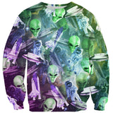 Sweaters - Space Invasion Sweater