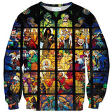 Stained Glass Sweater-Shelfies-| All-Over-Print Everywhere - Designed to Make You Smile