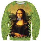 Stoner Liza Sweater-Shelfies-| All-Over-Print Everywhere - Designed to Make You Smile