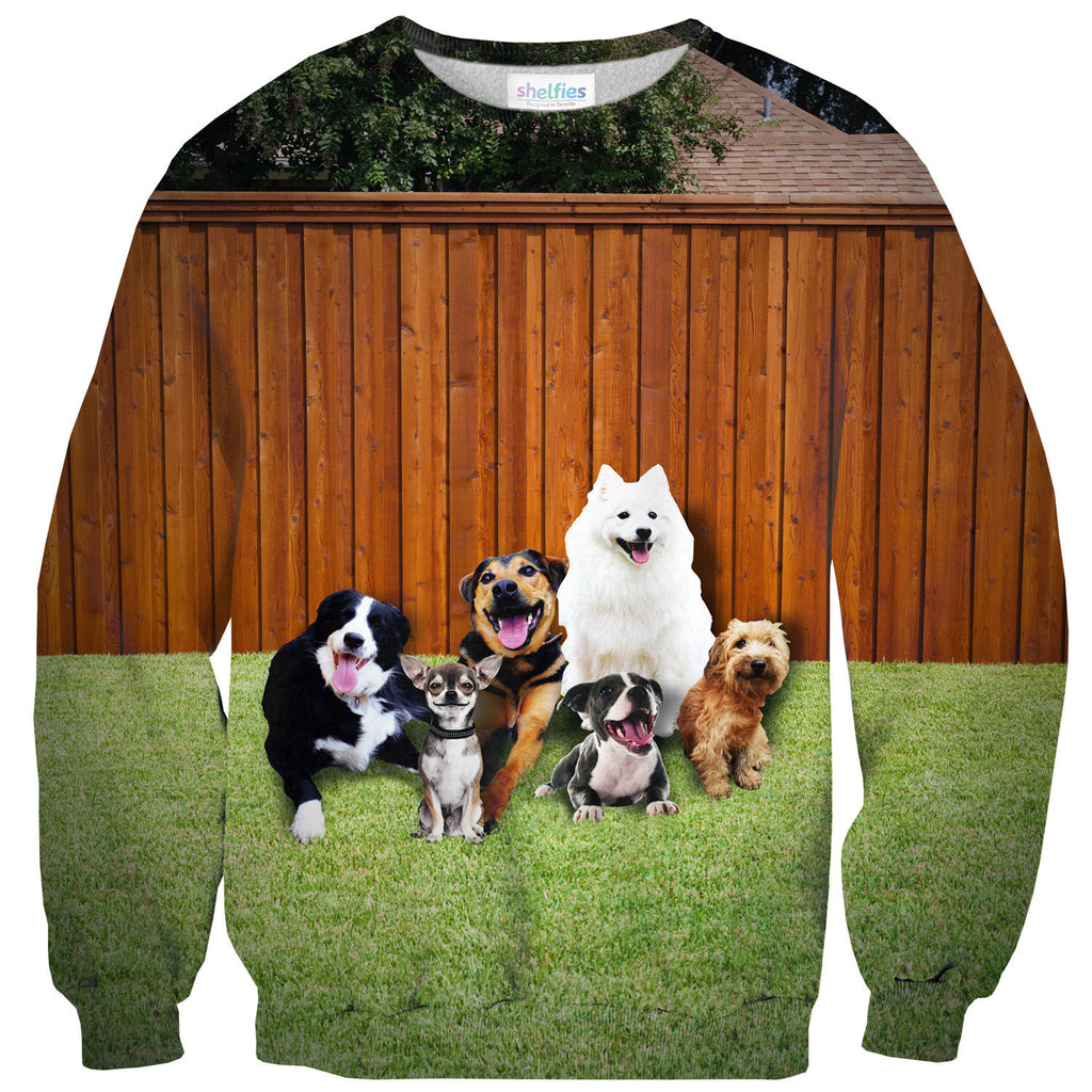 Suburban Dogs Sweater-Shelfies-| All-Over-Print Everywhere - Designed to Make You Smile