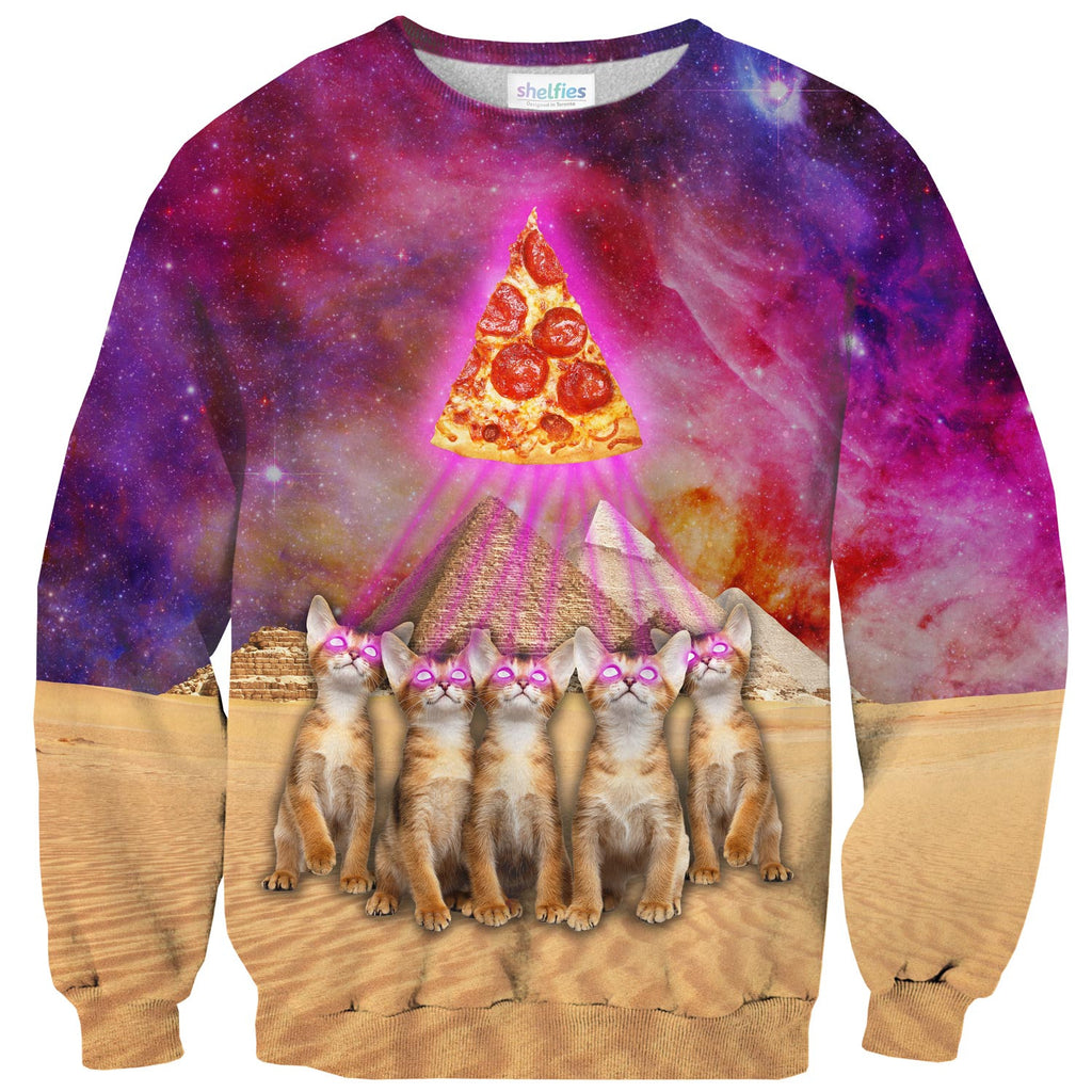 Sweaters - The Great Pyramid Of Pizza Sweater