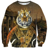 Tiger Emperor Sweater-Shelfies-| All-Over-Print Everywhere - Designed to Make You Smile
