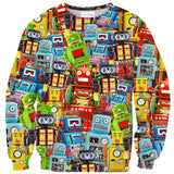 Toy Robot Sweater-Shelfies-XS-| All-Over-Print Everywhere - Designed to Make You Smile