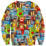 Toy Robot Sweater-Shelfies-| All-Over-Print Everywhere - Designed to Make You Smile
