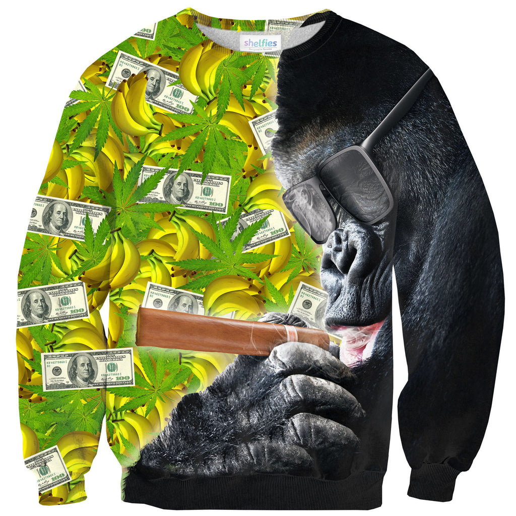 Sweaters - Trap Smoking Gorilla Sweater