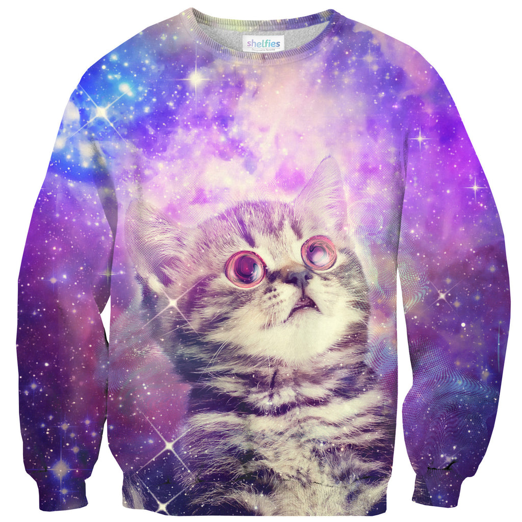 Trippin' Kitty Kat Sweater-Shelfies-| All-Over-Print Everywhere - Designed to Make You Smile