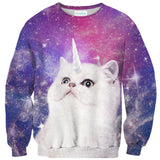 Unikitty Sweater-Shelfies-| All-Over-Print Everywhere - Designed to Make You Smile