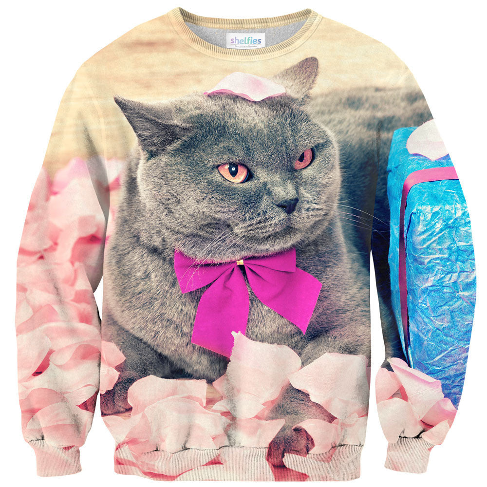 Valentine Cat Sweater-Shelfies-| All-Over-Print Everywhere - Designed to Make You Smile