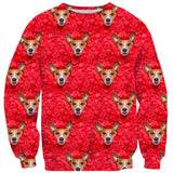 Valentine Dog Invasion Sweater-Shelfies-| All-Over-Print Everywhere - Designed to Make You Smile