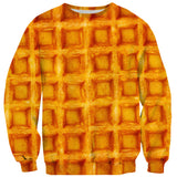 Waffle Invasion Sweater-Shelfies-| All-Over-Print Everywhere - Designed to Make You Smile