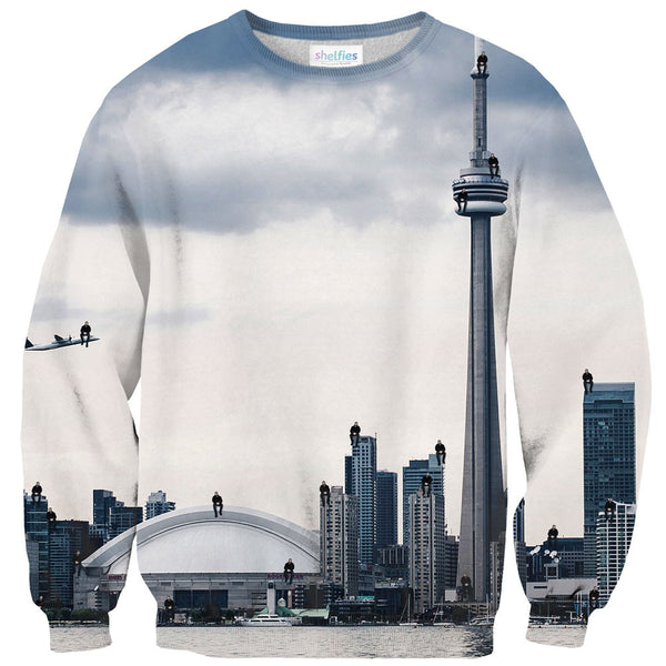 2 Many Views Sweater-Shelfies-| All-Over-Print Everywhere - Designed to Make You Smile
