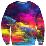 Abstract Colours Sweater-Subliminator-| All-Over-Print Everywhere - Designed to Make You Smile