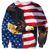 American Flag Sweater-Subliminator-| All-Over-Print Everywhere - Designed to Make You Smile