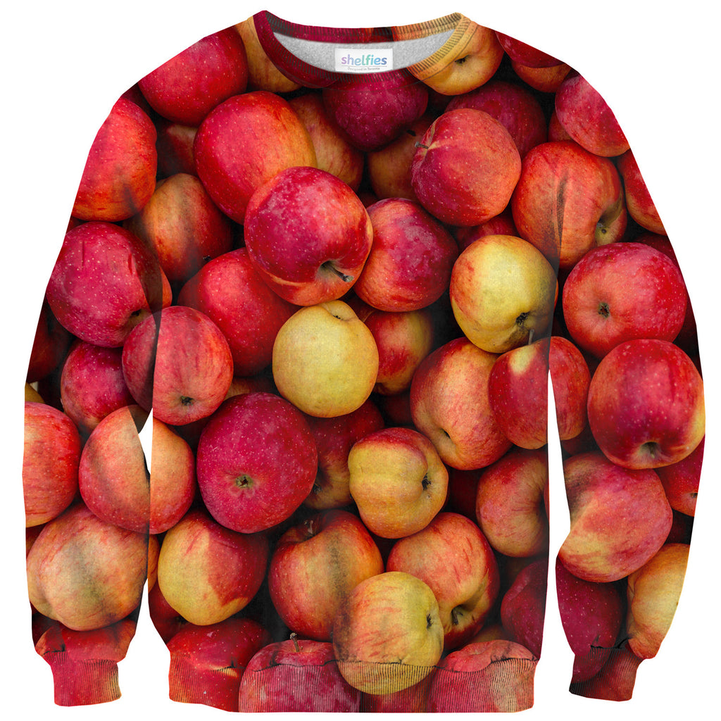Apple Invasion Sweater-Shelfies-| All-Over-Print Everywhere - Designed to Make You Smile