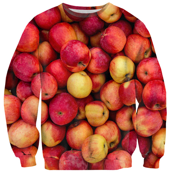 Apple Invasion Sweater-Shelfies-XS-| All-Over-Print Everywhere - Designed to Make You Smile